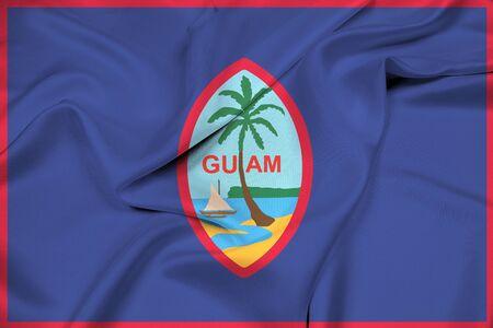 unincorporated: Waving Flag of Guam