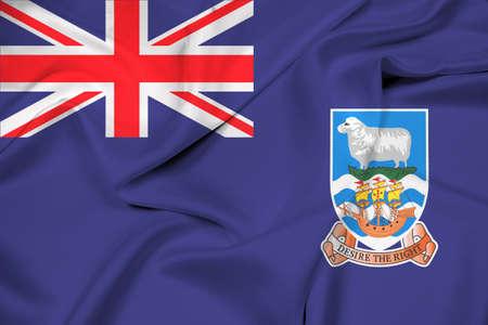 falkland: Waving Flag of Falkland Islands Stock Photo