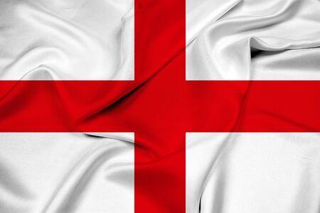 italian politics: Waving Flag of Genoa
