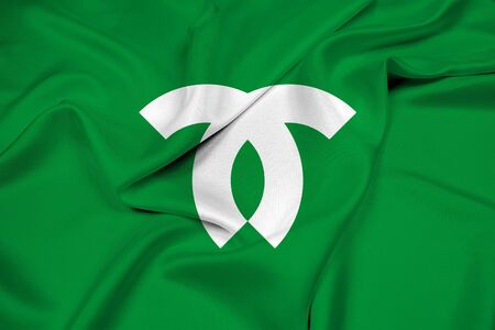 kobe: Waving Flag of Kobe, Japan Stock Photo