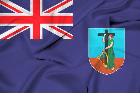 montserrat: Waving Flag of Montserrat Stock Photo