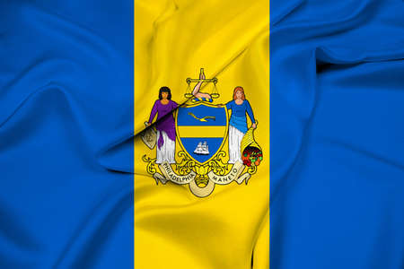 pennsylvania: Waving Flag of Philadelphia, Pennsylvania