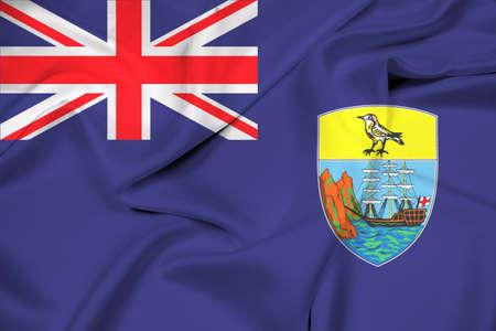 helena: Waving Flag of Saint Helena Stock Photo