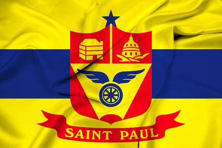 paul: Waving Flag of Saint Paul, Minnesota Stock Photo