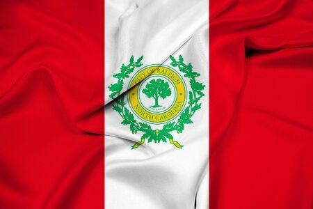 north carolina: Waving Flag of Raleigh, North Carolina