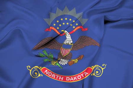 education policy: Waving Flag of North Dakota State Stock Photo