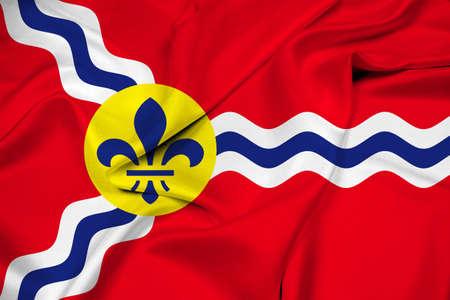 louis: Waving Flag of St. Louis, Missouri