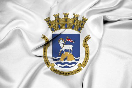 bandera de puerto rico: Agitando la bandera de San Juan, Puerto Rico