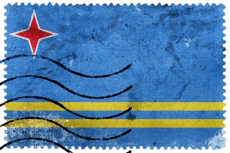 postage stamp: Bandera de Aruba, franqueo antiguo sello