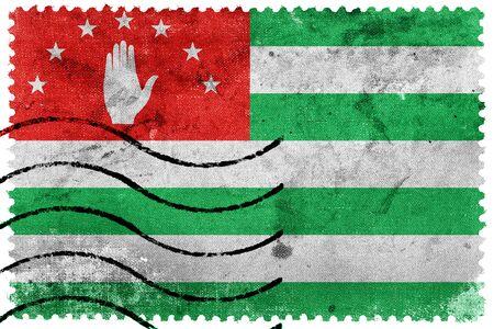 postage: Flag of Abkhazia, old postage stamp