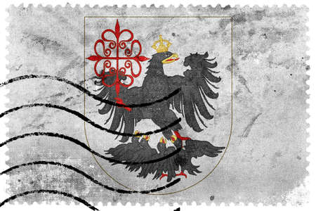 postage stamp: Bandera de Buenos Aires, franqueo antiguo sello