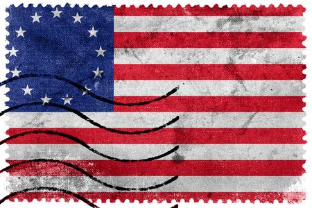 postage stamp: Betsy Ross Flag, old postage stamp