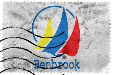 sello postal: Bandera de Benbrook, Texas, antiguo sello de correos