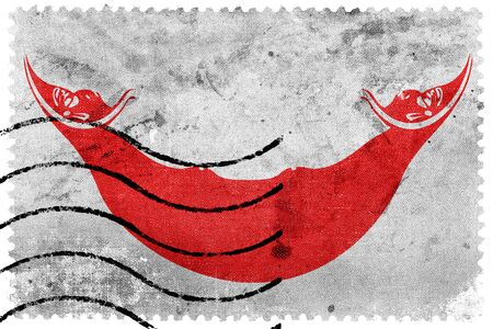 easter island: Flag of Easter Island, old postage stamp Stock Photo