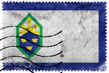 postage: Flag of Colorado Springs, Colorado, old postage stamp