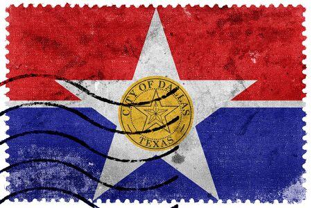 postage stamp: Bandera de Dallas, Texas, antiguo sello de correos