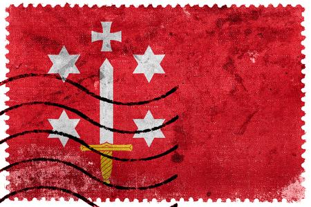 postage stamp: Bandera de Haarlem, franqueo antiguo sello