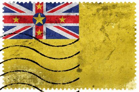 niue: Flag of Niue, old postage stamp