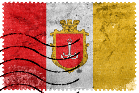postage: Flag of Odessa, old postage stamp