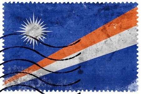 marshall: Flag of Marshall Islands, old postage stamp