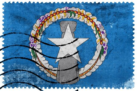 mariana: Flag of Northern Mariana Islands, old postage stamp