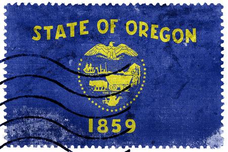 state of oregon: Flag of Oregon State, old postage stamp