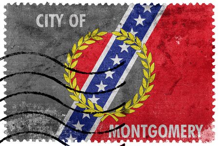 montgomery: Flag of Montgomery, Alabama, old postage stamp