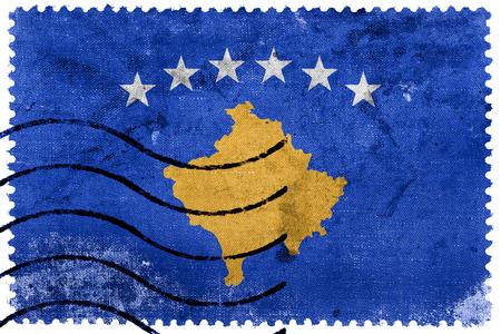sello postal: Flag of Kosovo, old postage stamp