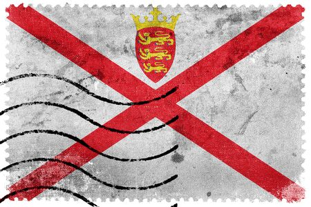 bailiwick: Flag of Jersey, old postage stamp
