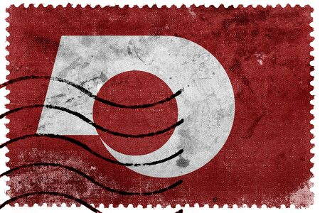 postage: Flag of Kumamoto, Japan, old postage stamp