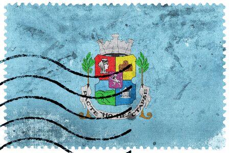 postage: Flag of Sofia, old postage stamp