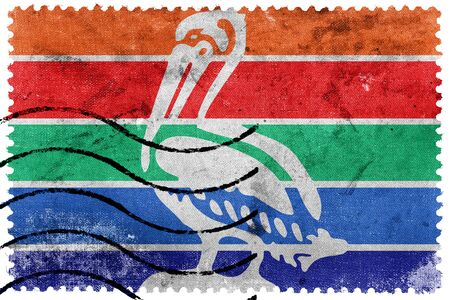 postage stamps: Flag of St. Petersburg, Florida, old postage stamp