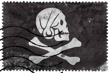 henry: Henry Every Pirate Flag, old postage stamp