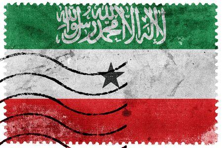 postage stamp: Flag of Somaliland, old postage stamp