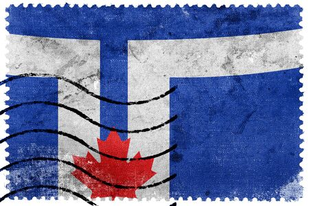 sello postal: Bandera de Toronto, franqueo antiguo sello
