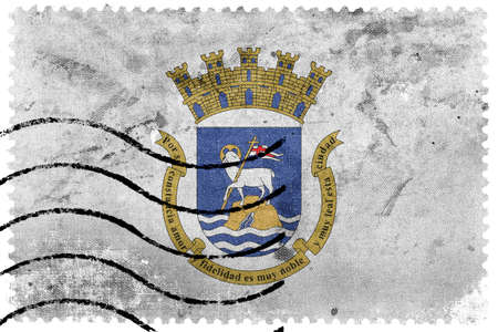 unincorporated: Flag of San Juan, Puerto Rico, old postage stamp