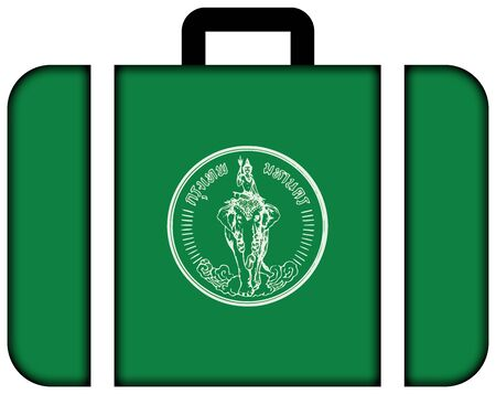 customs official: Flag of Bangkok. Suitcase icon, travel and transportation concept