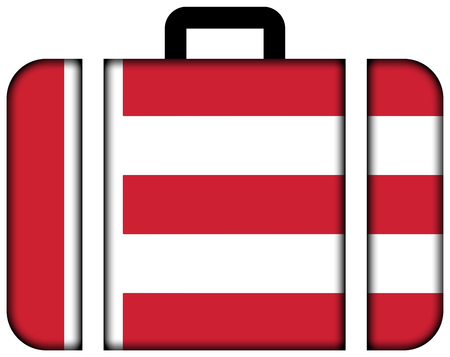 eindhoven: Flag of Eindhoven. Suitcase icon, travel and transportation concept