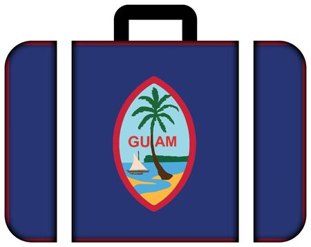 unincorporated: Flag of Guam. Suitcase icon, travel and transportation concept Stock Photo