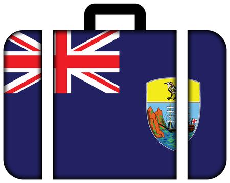 helena: Flag of Saint Helena. Suitcase icon, travel and transportation concept Stock Photo