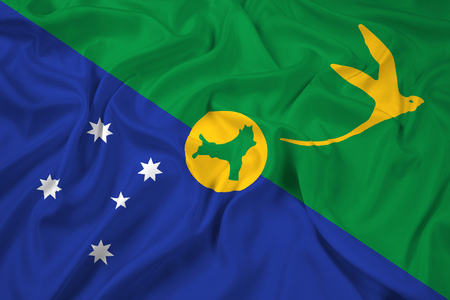 polity: Waving Flag of Christmas Island Stock Photo