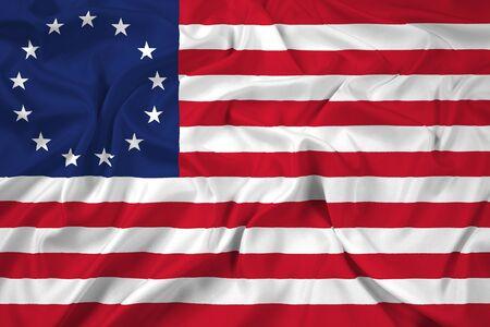 Waving Betsy Ross Flag Stock fotó