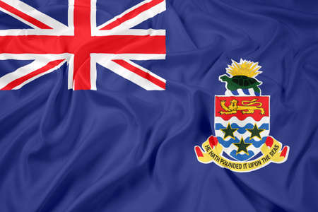 cayman islands: Waving Flag of Cayman Islands