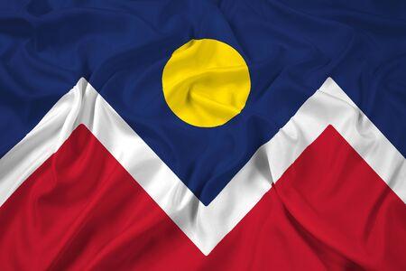 flag of colorado: Waving Flag of Denver, Colorado