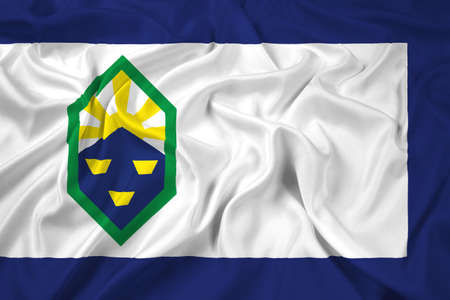 flag of colorado: Waving Flag of Colorado Springs, Colorado
