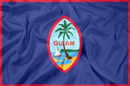 guam: Waving Flag of Guam