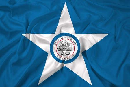 houston: Waving Flag of Houston, Texas
