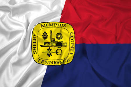 memphis: Waving Flag of Memphis, Tennessee