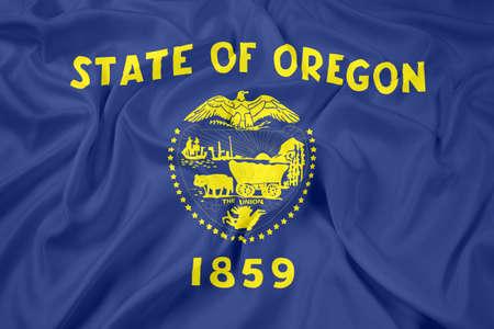 state of oregon: Waving Flag of Oregon State
