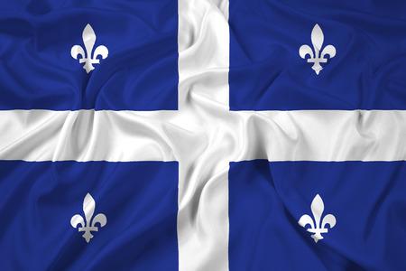 quebec: Waving Flag of Quebec